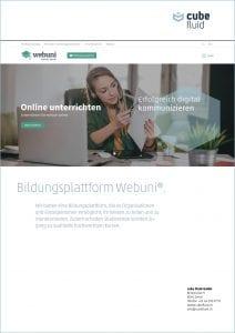 webuni - cube fluid GmbH 2