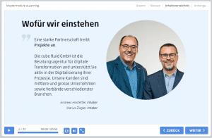 eLearning-Module - cube fluid GmbH 3